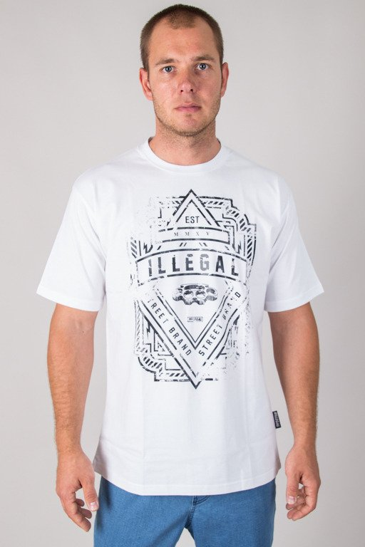 ILLEGAL T-SHIRT LOGO WHITE
