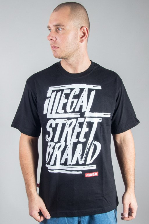 ILLEGAL T-SHIRT STREET BRAND BLACK