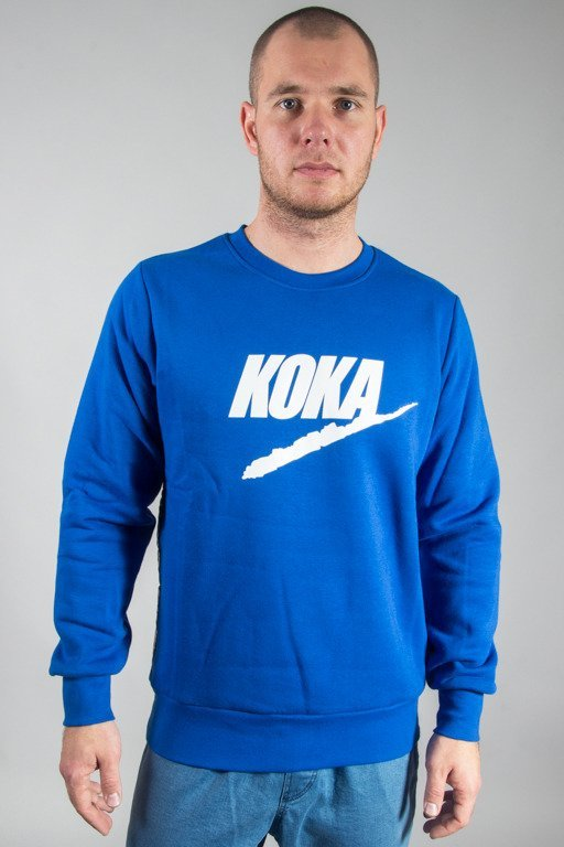 KOKA CREWNECK FAKE TAPE BLUE