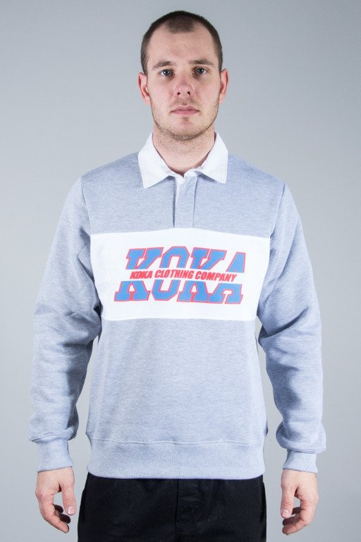 KOKA CREWNECK POLO SHOOL YARD GREY