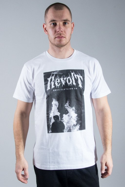 KOKA T-SHIRT BURN STREET WHITE