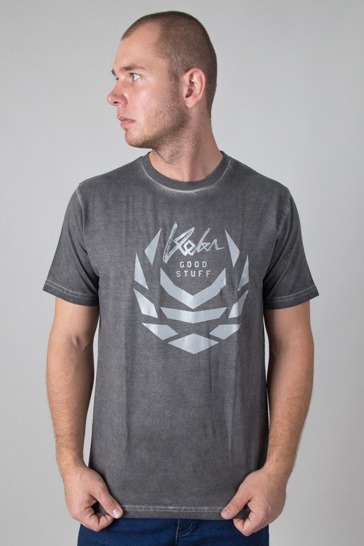 KOKA T-SHIRT LAUREL LOGO PREW DARK GREY