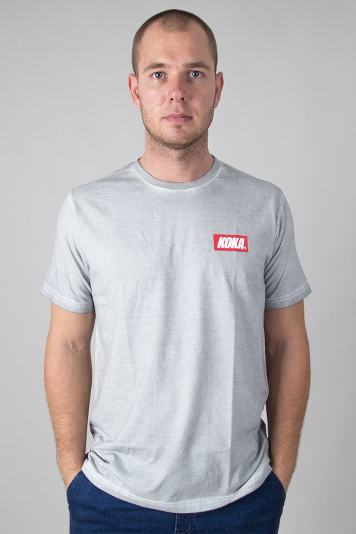 KOKA T-SHIRT MINI BOXLOGO PREW LIGHT GREY