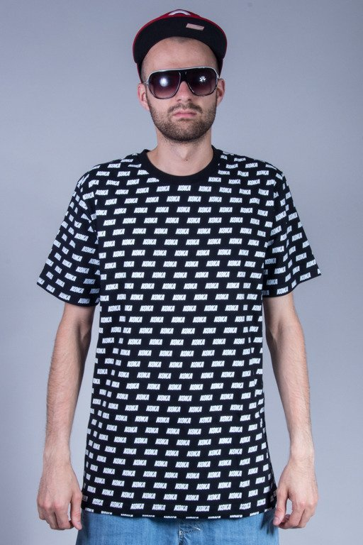 KOKA T-SHIRT OVERPRINT BLACK