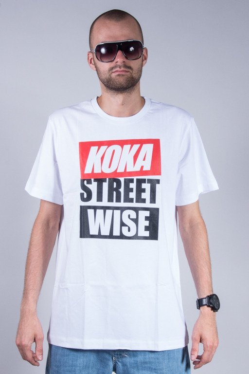 KOKA T-SHIRT WISE STREET WHITE