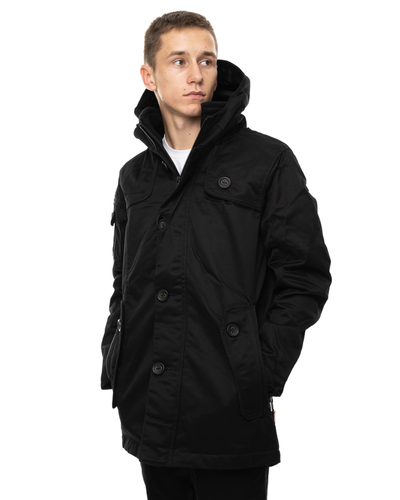 Kurtka Parka Zip Z Kapturem Assassin Black
