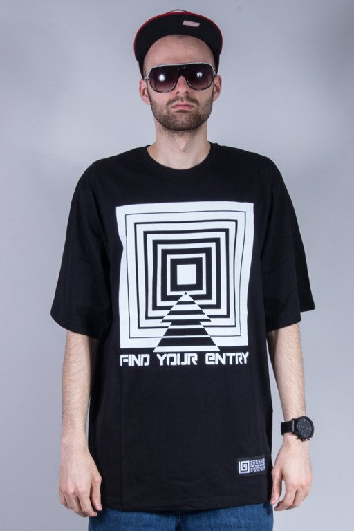 LABIRYNT T-SHIRT ENTRY BLACK
