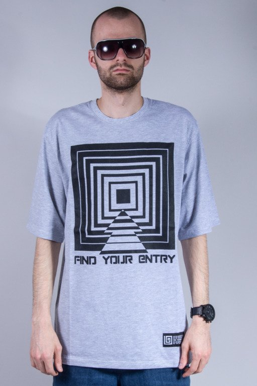LABIRYNT T-SHIRT ENTRY GREY
