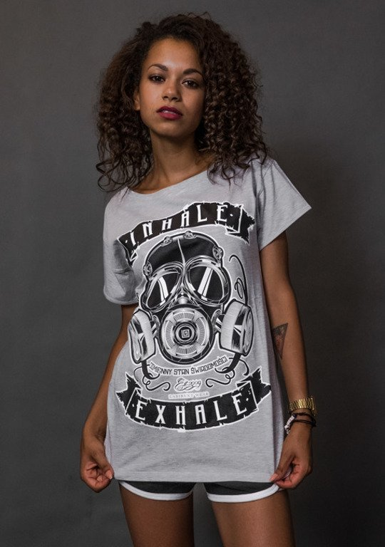 LABIRYNT T-SHIRT WOMAN INHALE MELANGE