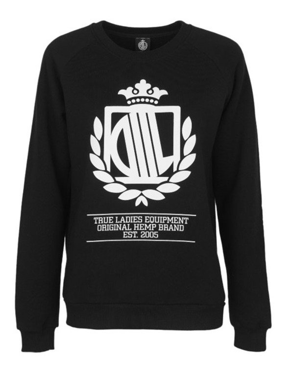 LADY DIIL CREWNECK REGLAN HARVARD BLACK