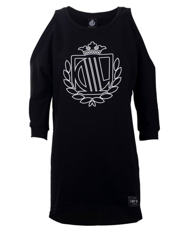 LADY DIIL CREWNECK SHOULDER BLACK