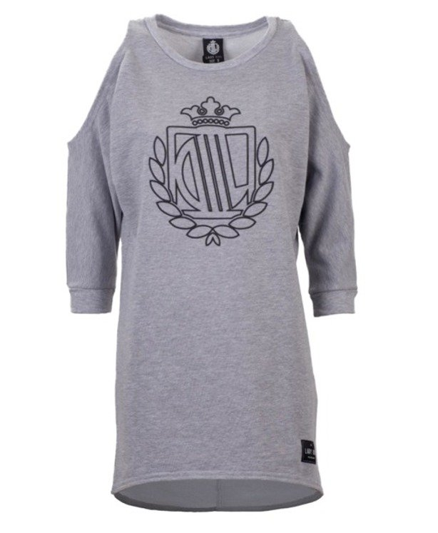 LADY DIIL CREWNECK SHOULDER GREY