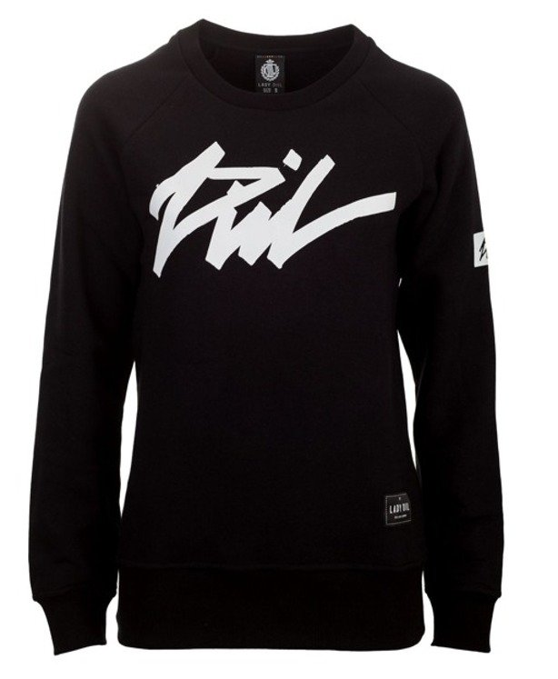LADY DIIL CREWNECK TAG BLACK