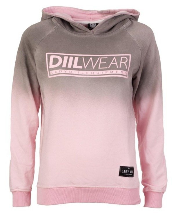 LADY DIIL HOODIE OMBRE GREY-PINK