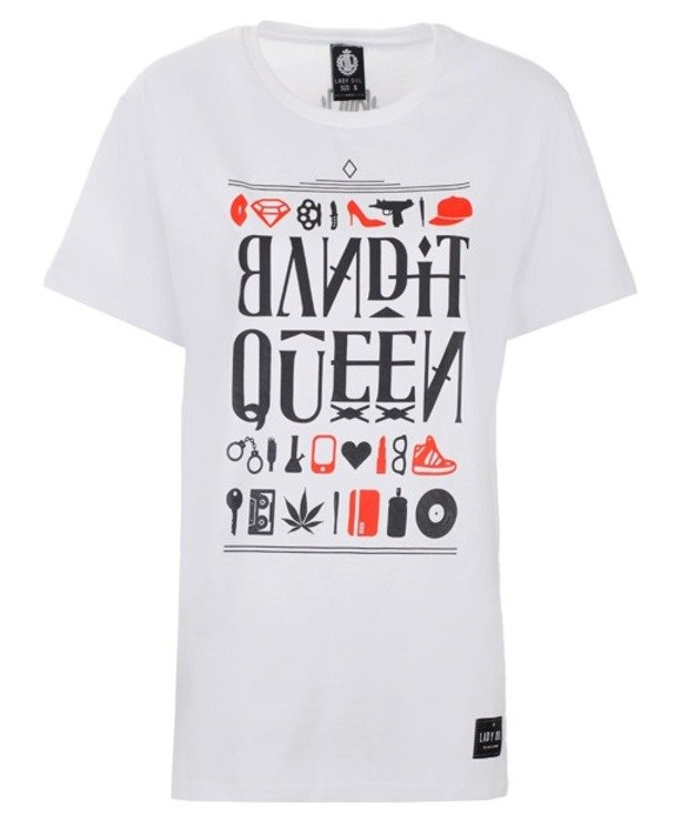 LADY DIIL T-SHIRT BANDIT WHITE
