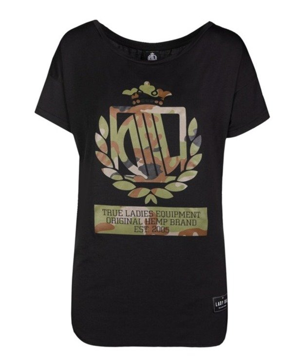 LADY DIIL T-SHIRT LOOSE BLACK-CAMO