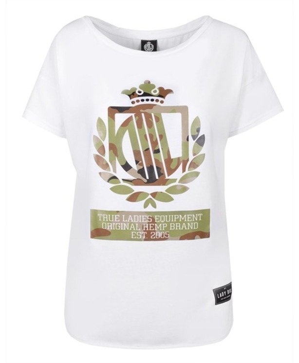 LADY DIIL T-SHIRT LOOSE WHITE-CAMO