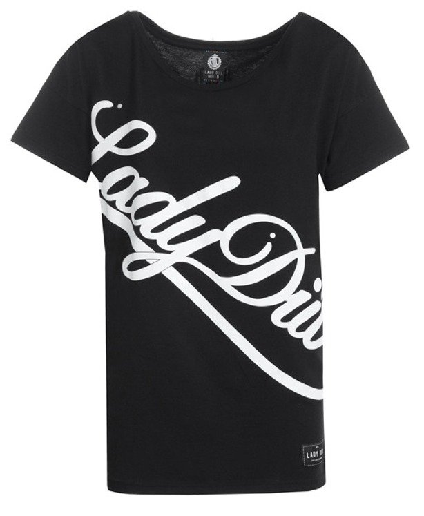LADY DIIL T-SHIRT SIDEWAYS BLACK