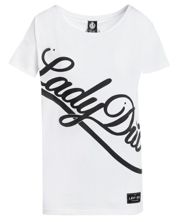 LADY DIIL T-SHIRT SIDEWAYS WHITE