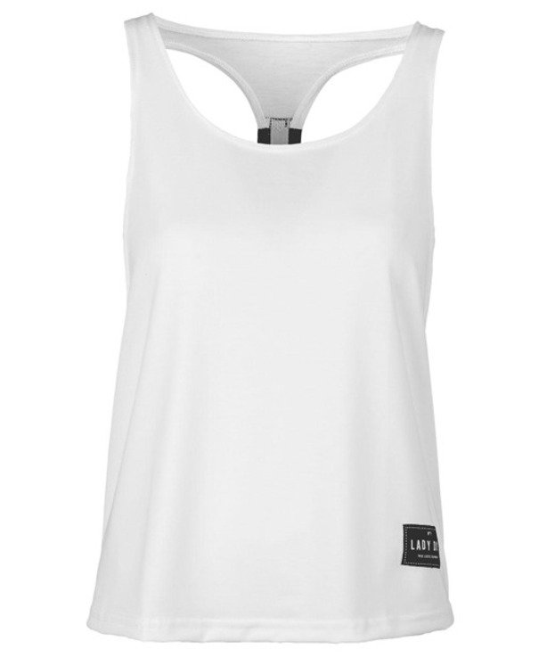 LADY DIIL TANK TOP BACK WHITE