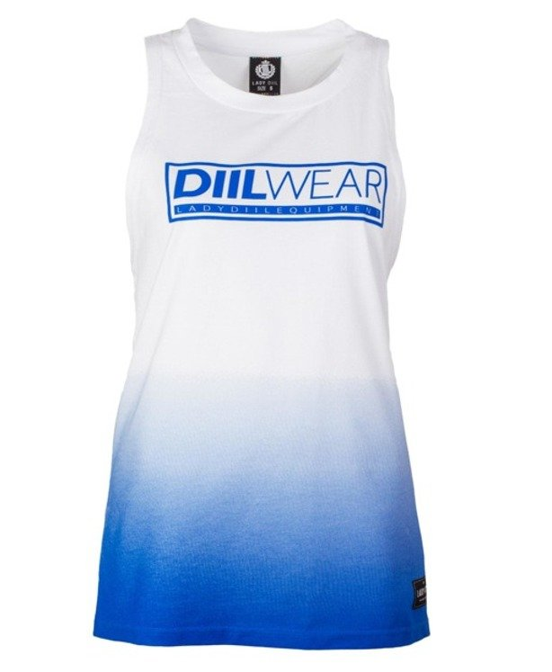 LADY DIIL TANK TOP TONE WHITE-BLUE