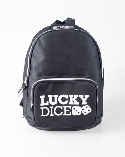 LUCKY DICE BACKPACK LOGO BLACK