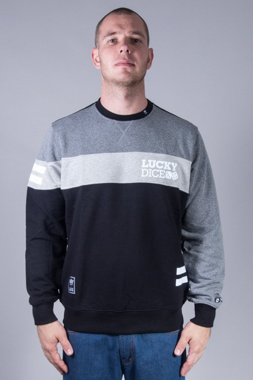 LUCKY DICE CREWNECK NEW CUT GREY-BLACK