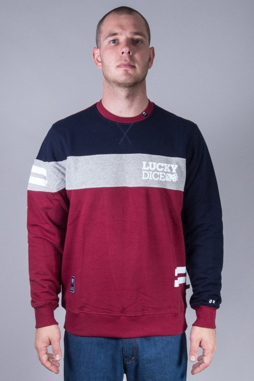 LUCKY DICE CREWNECK NEW CUT NAVY-BRICK