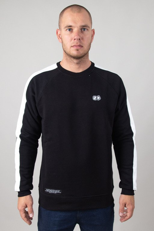 LUCKY DICE CREWNECK STRIPE BLACK