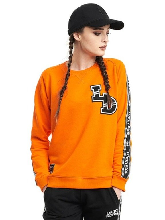 LUCKY DICE CREWNECK WOMAN TAPE LD ORANGE