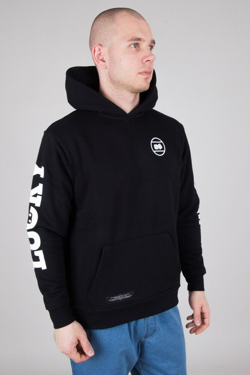LUCKY DICE HOODIE LOGO ON SLEEVE BLACK