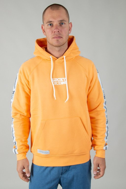 LUCKY DICE HOODIE TAPE LOGO ORANGE