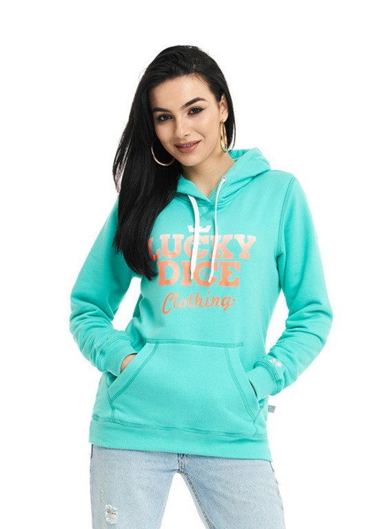 LUCKY DICE HOODIE WOMAN RND MINT