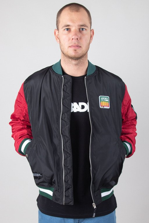 LUCKY DICE JACKET BOMBER LD COLOUR BLACK-BRICK