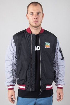 LUCKY DICE JACKET BOMBER LD COLOUR BLACK-GREY