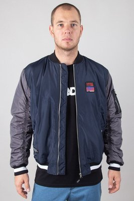 LUCKY DICE JACKET BOMBER LD COLOUR NAVY-GREY