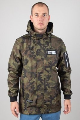 LUCKY DICE JACKET PARKA LOGO LABEL CAMO