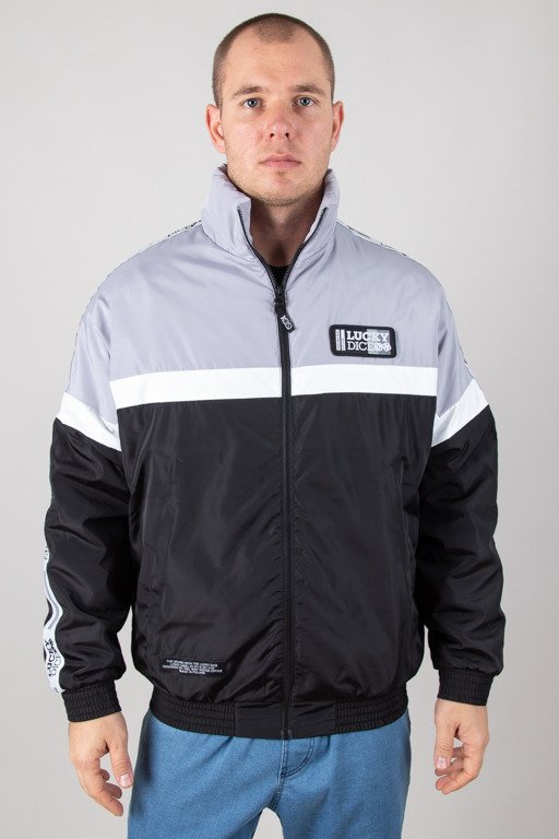 LUCKY DICE JACKET ZIP TAPE GREY-BLACK