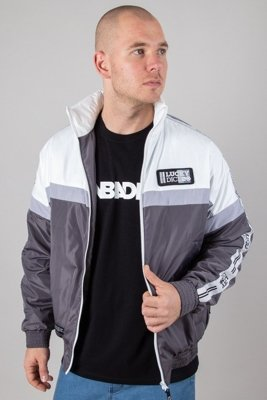 LUCKY DICE JACKET ZIP TAPE GREY-WHITE