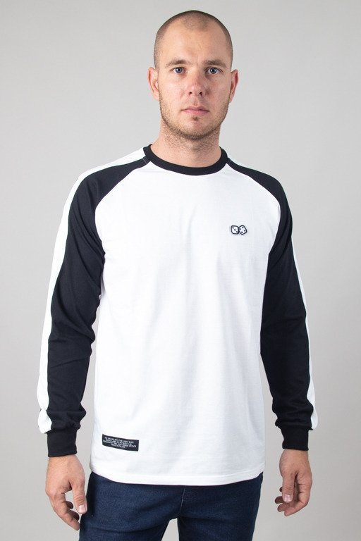 LUCKY DICE LONGSLEEVE RAGLAN STRIPE WHITE-BLACK