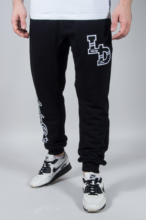 LUCKY DICE SWEATPANTS COLLAGE BLACK
