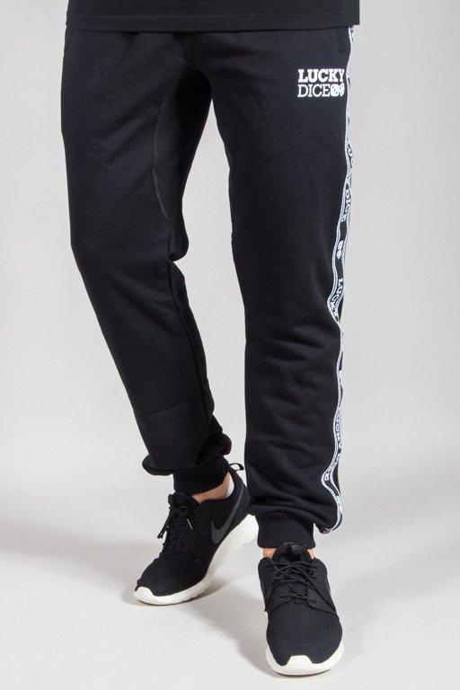 LUCKY DICE SWEATPANTS TAPE BLACK