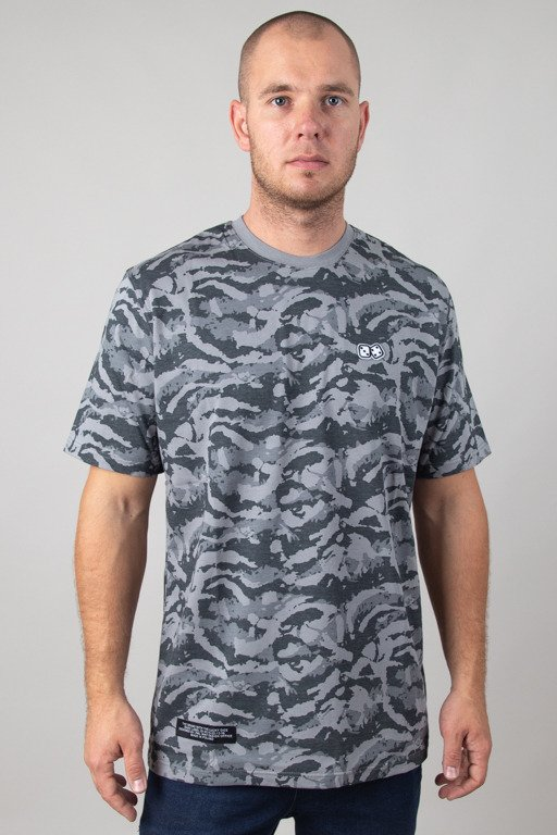 LUCKY DICE T-SHIRT BASIC STAIN CAMO GREY