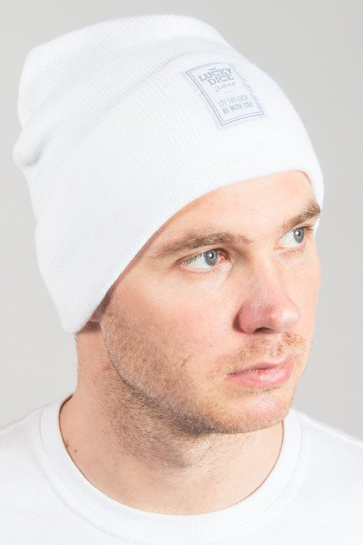 LUCKY DICE WINTER CAP BEANIE WHITE