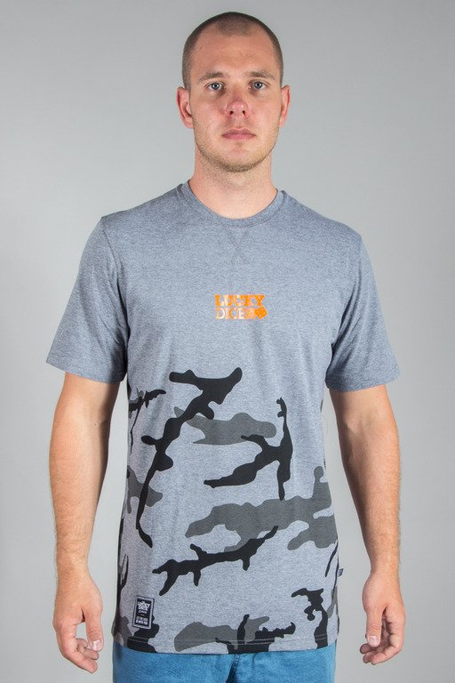 LUCKY DIECE T-SHIRT URBAN CAMO GREY