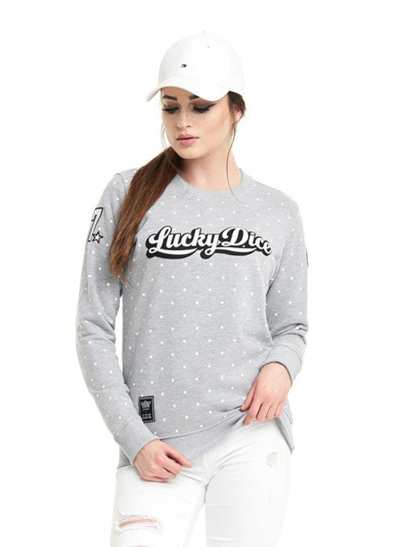 LUKCY DICE CREWNECK WOMAN DOT BABE GREY