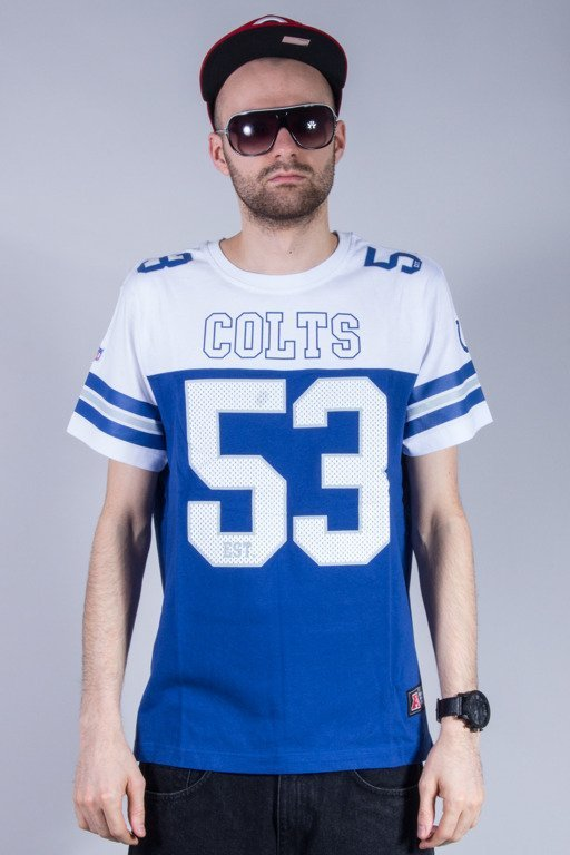 MAJESTIC KOSZULKA GRAPHER NFL COLTS WHITE-BLUE