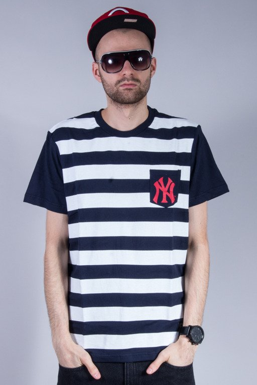 MAJESTIC KOSZULKA UNSPAR STRIPE POCKET YANKEES NAVY