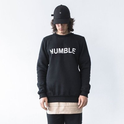 MAJORS CREWNECK HUMBLE II BLACK