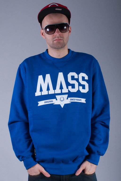 MASS BLUZA BEZ KAPTURA ALPHA BLUE